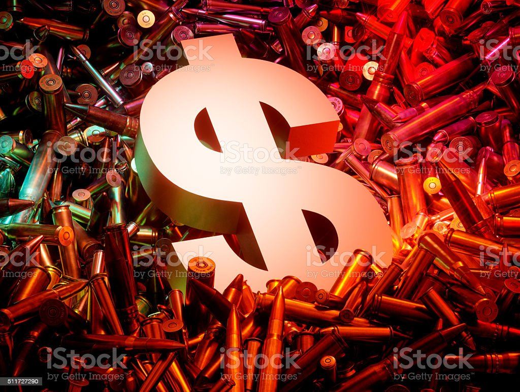 Arms trade business concept. stock photo