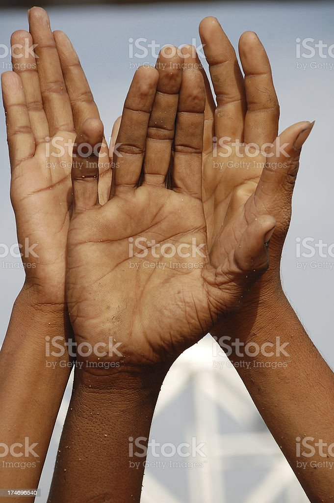 Arms up royalty-free stock photo