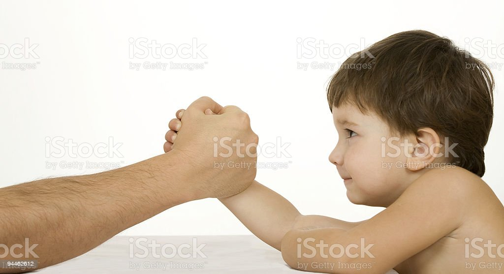 Arm-wrestling royalty-free stock photo