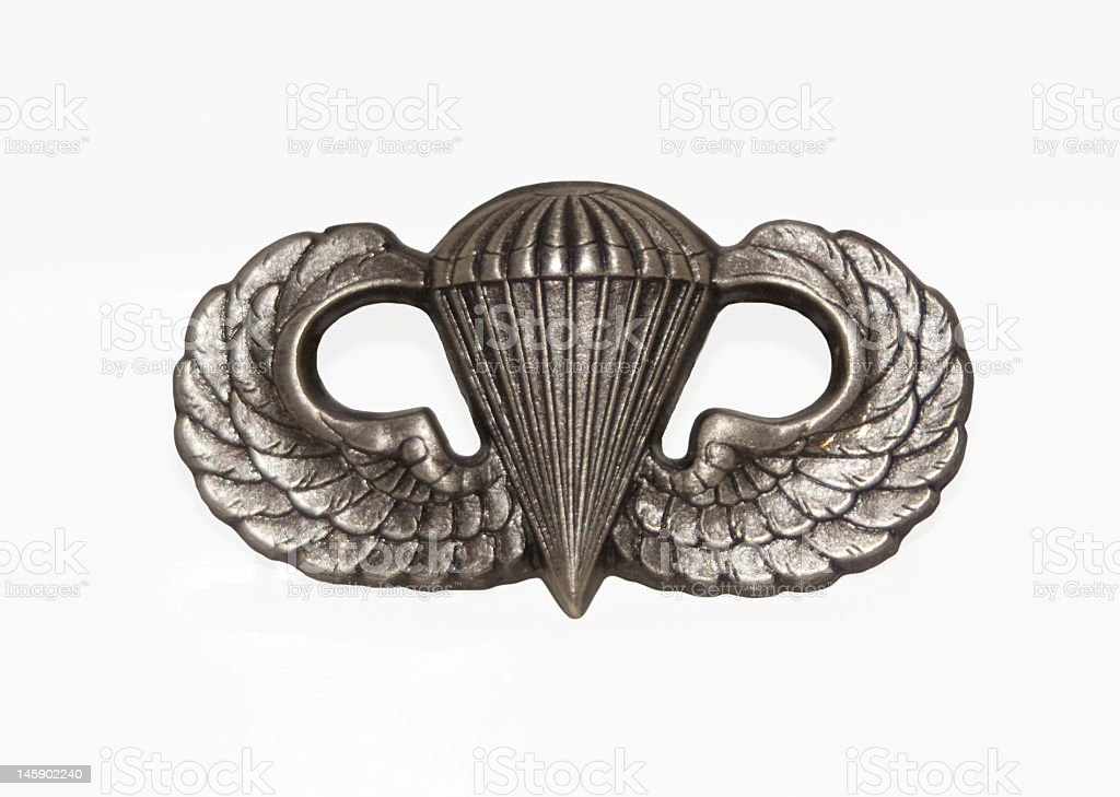 Army Airborne Wings stock photo