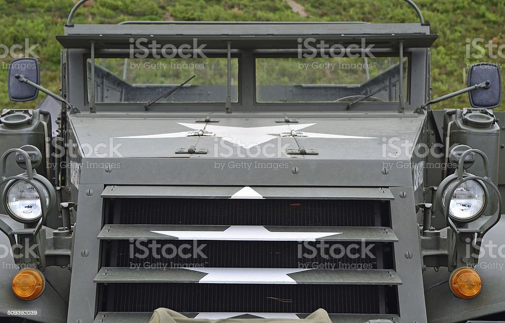 US army armored truck stock photo