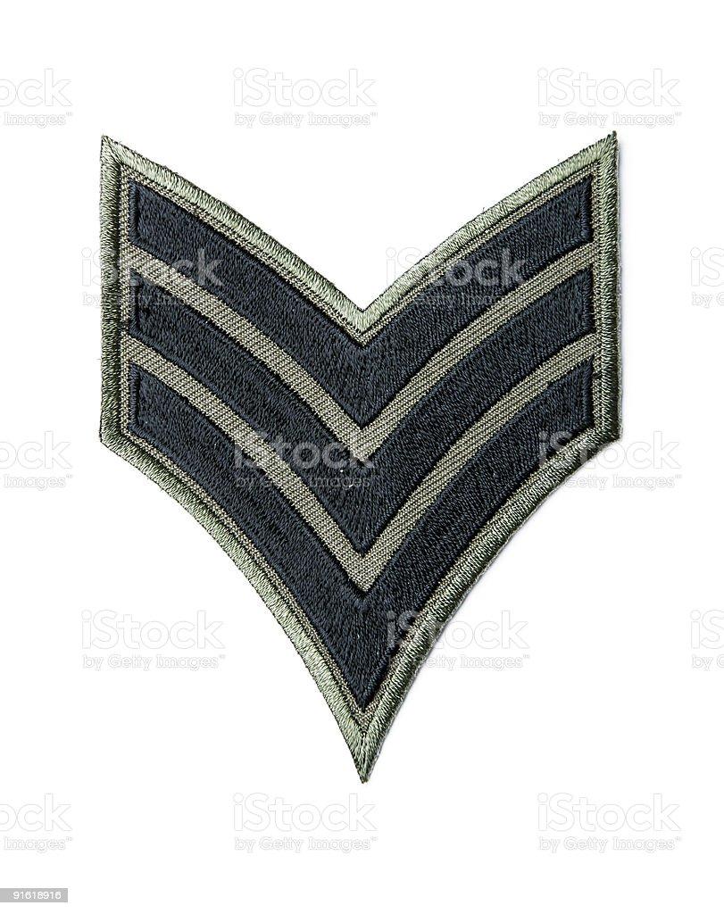 Army badge stock photo
