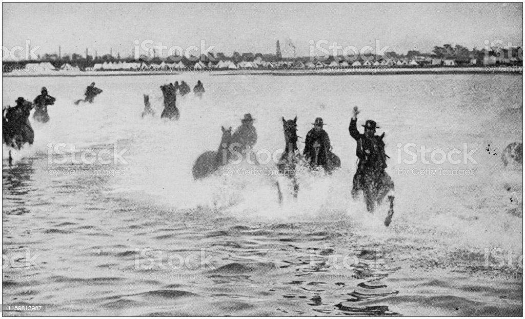 Cavalry charging in the sea