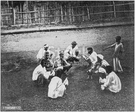 US Army black and white photos: Cock fighting, Luzon, Philippines
