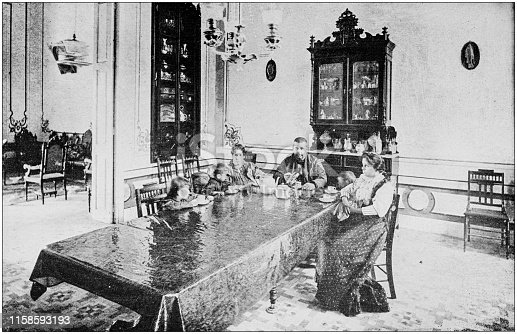 US Army black and white photos: Dining Room, Cuba