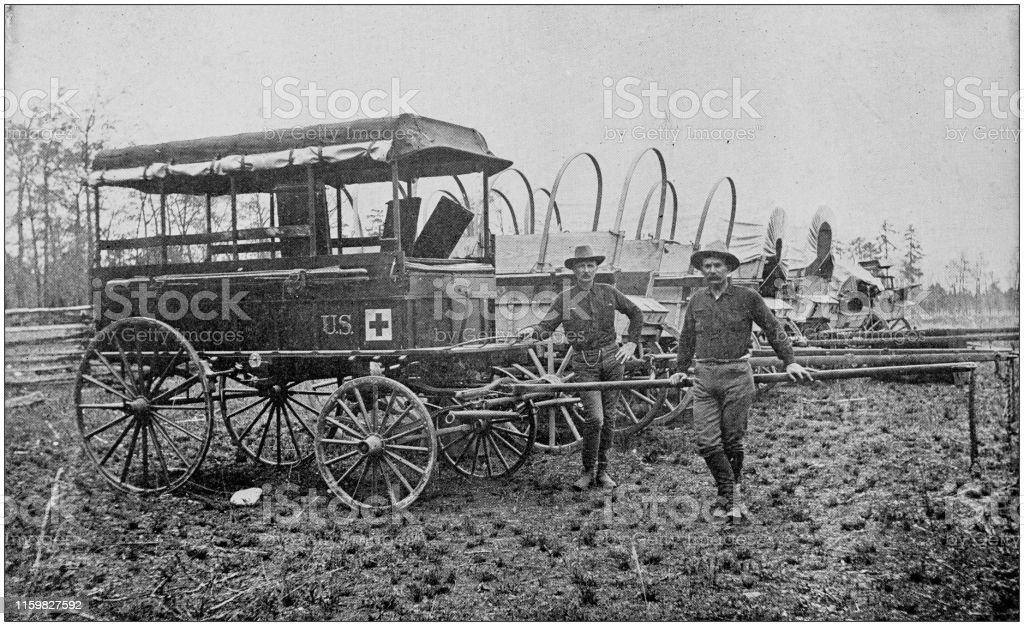 Hospital patrol and supply wagons