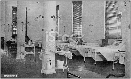 US Army black and white photos: Military hospital
