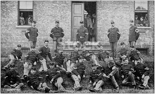 US Army black and white photos: Officers