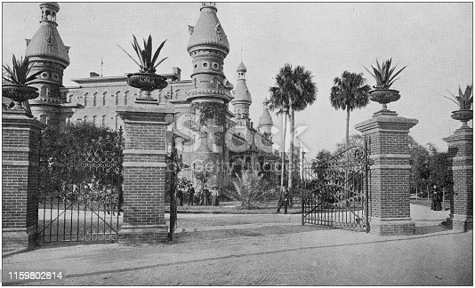 US Army black and white photos: Tampa Bay Hotel
