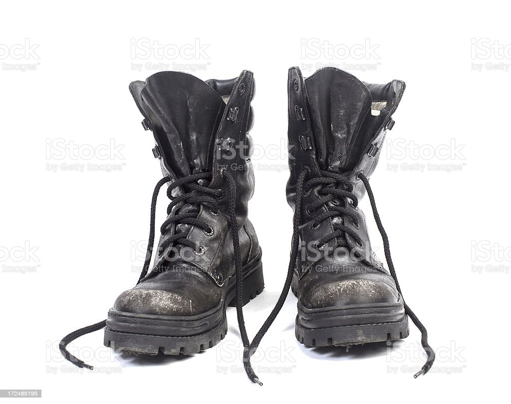 Army boots. royalty-free stock photo