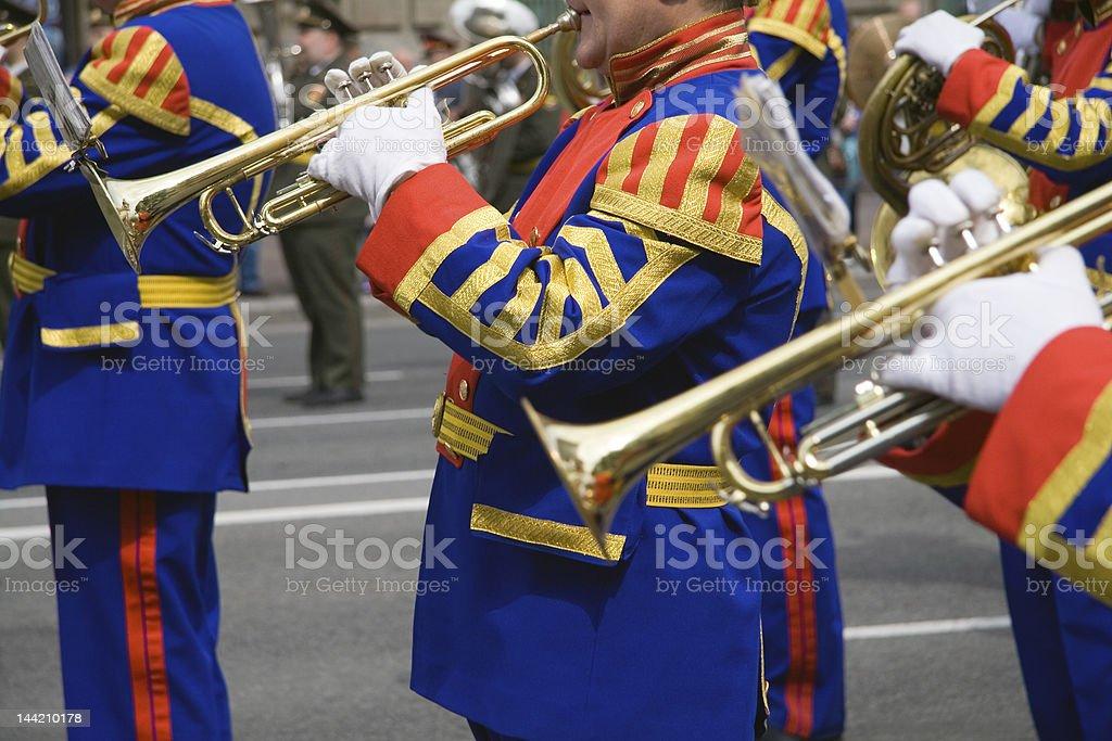 Army brass band stock photo