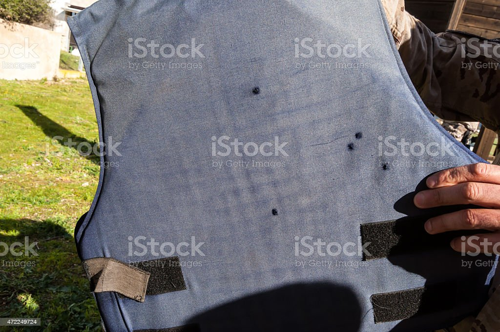 Army bulletproof vest stock photo