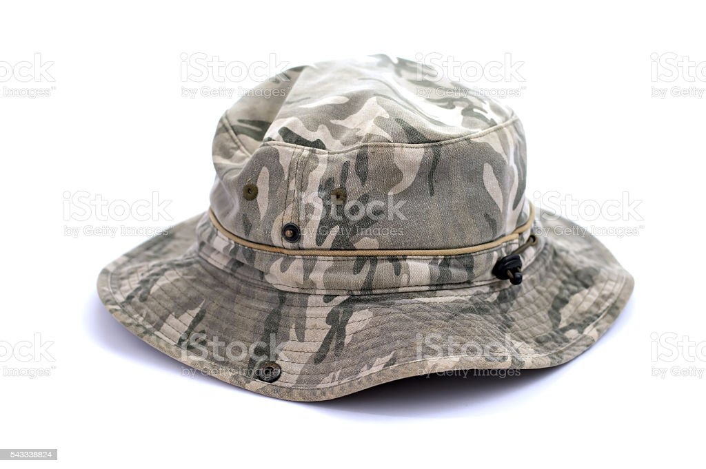 08a711941484bf Army camouflaged cap, isolated on white background royalty-free stock photo