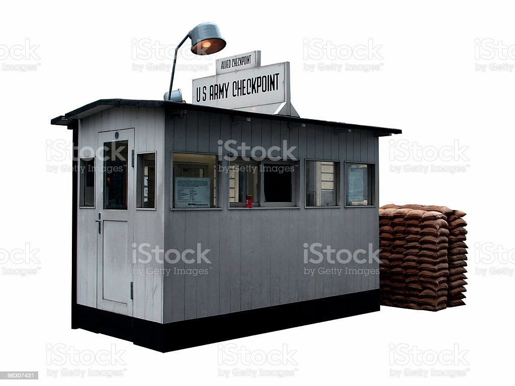 US Army Checkpoint stock photo