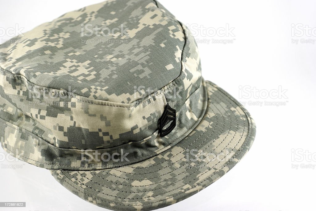 Army Combat Uniform Cap royalty-free stock photo