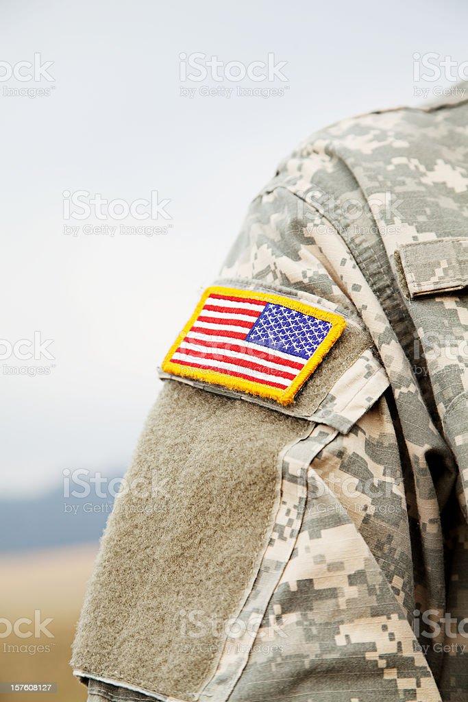 U S Army Combat Uniform royalty-free stock photo