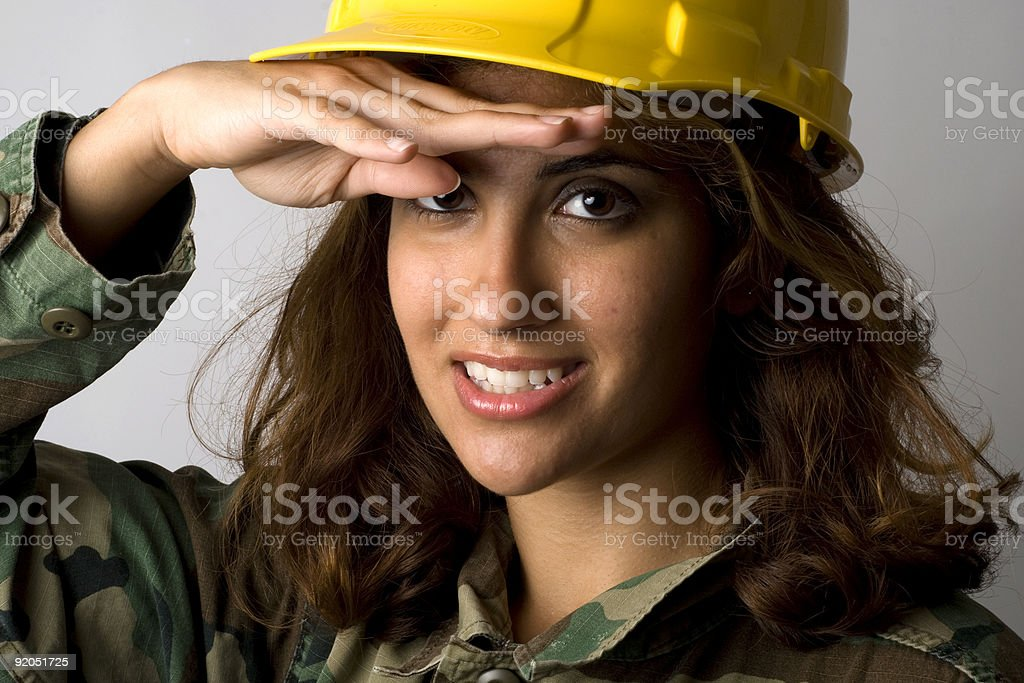 Army Corp Female-4 royalty-free stock photo