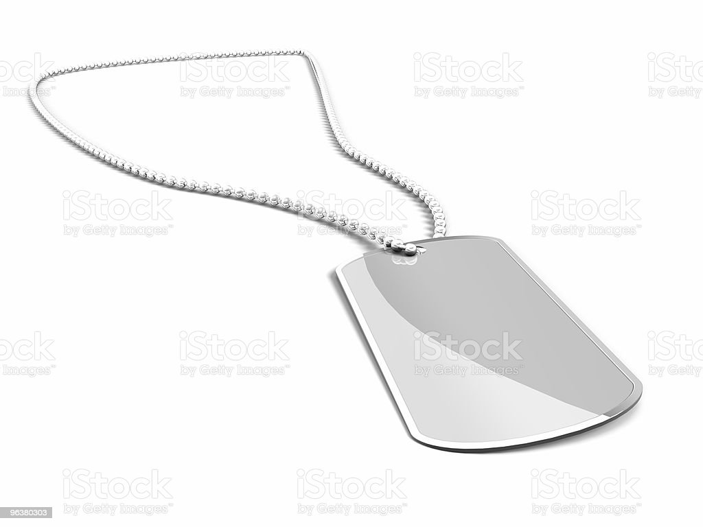 US Army Dog Tag on white background royalty-free stock photo