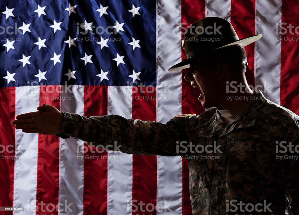 U S Army Drill Sergeant Giving Instruction royalty-free stock photo