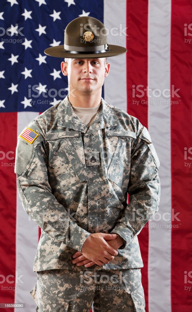 U S Army Drill Sergeant stock photo