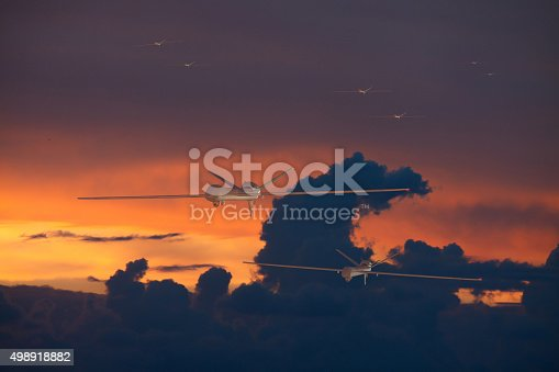 535194869 istock photo Army drones UAV in group 498918882