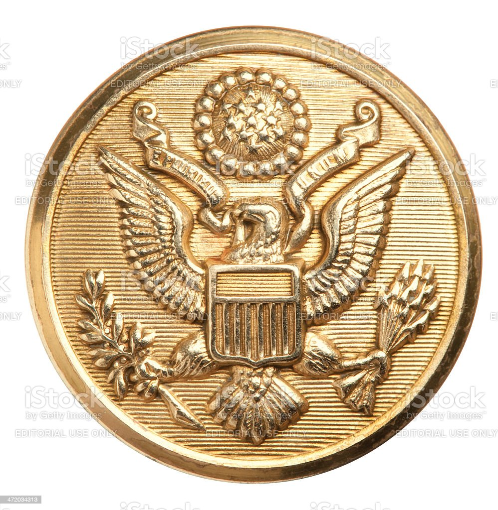 US Army Eagle button. royalty-free stock photo
