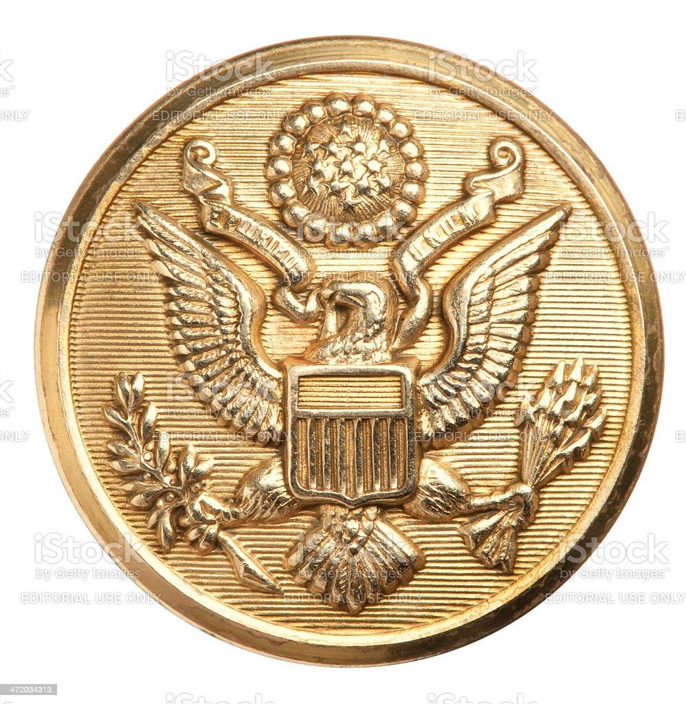 US Army Eagle button. stock photo