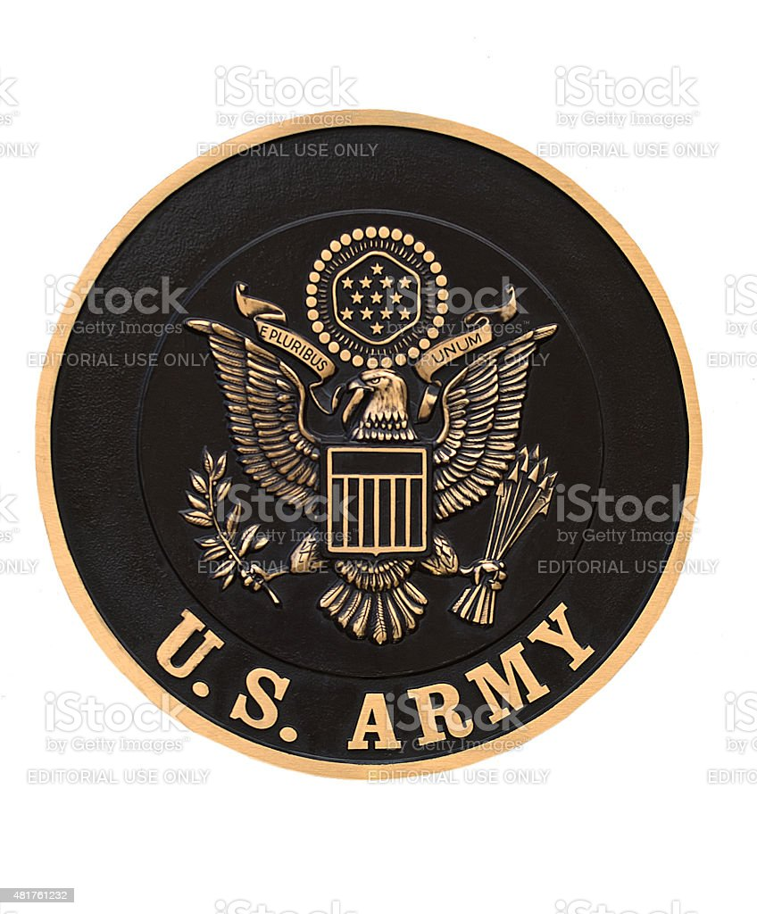 US Army emblem stock photo