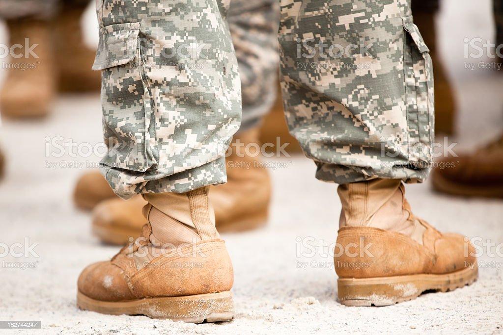Army Feet royalty-free stock photo