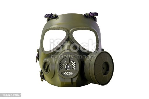 istock Army gas mask type cover full face 1066998562