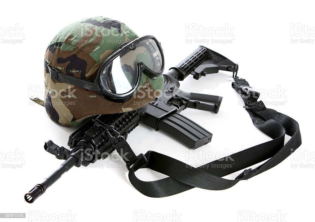 Army gear royalty-free stock photo