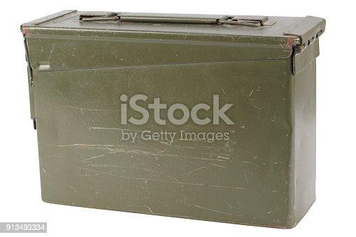 907208642 istock photo US Army Green Ammo Box 913493334