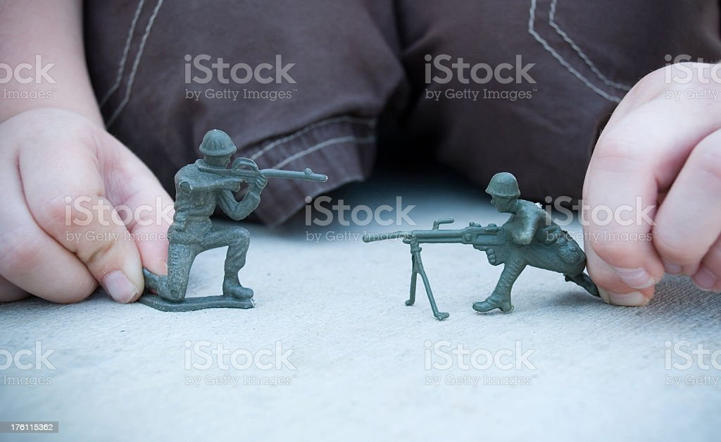 Army guys royalty-free stock photo
