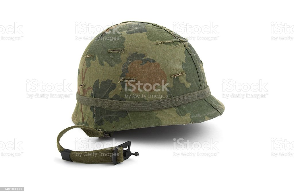 US Army helmet - Vietnam era stock photo