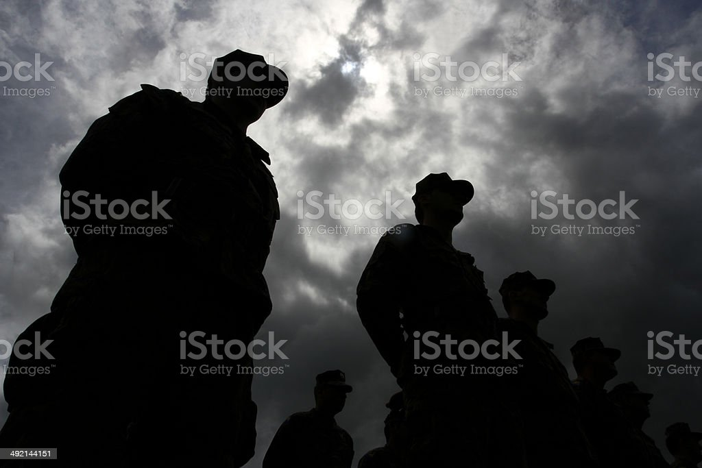 army lined stock photo