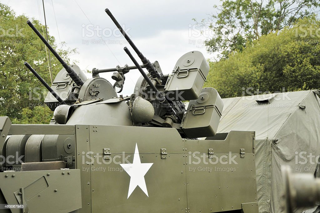 WW2 US Army M16 Quadmount Weaponry royalty-free stock photo