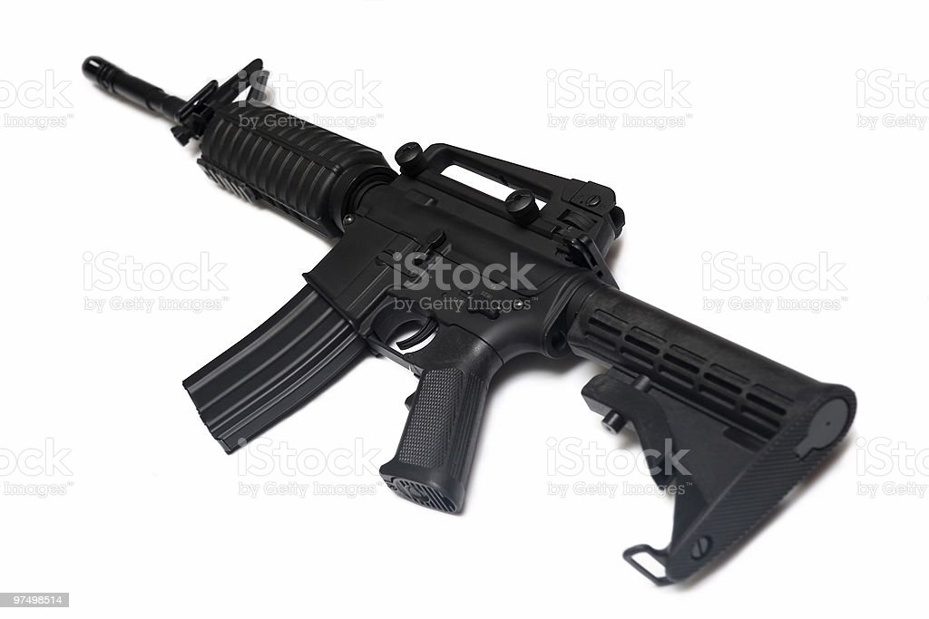 U.S. Army M4A1 carbine. Weapon series. royalty-free stock photo