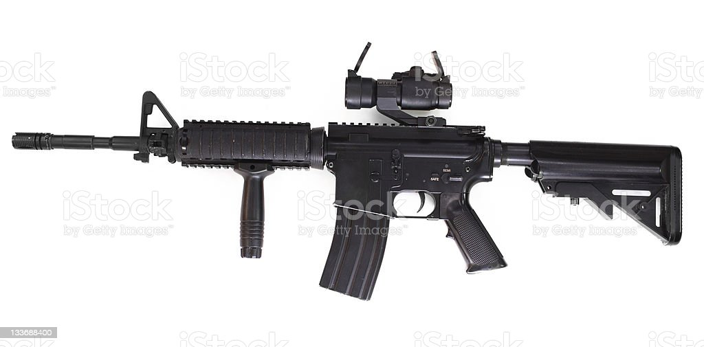 US Army M4A1 rifle stock photo