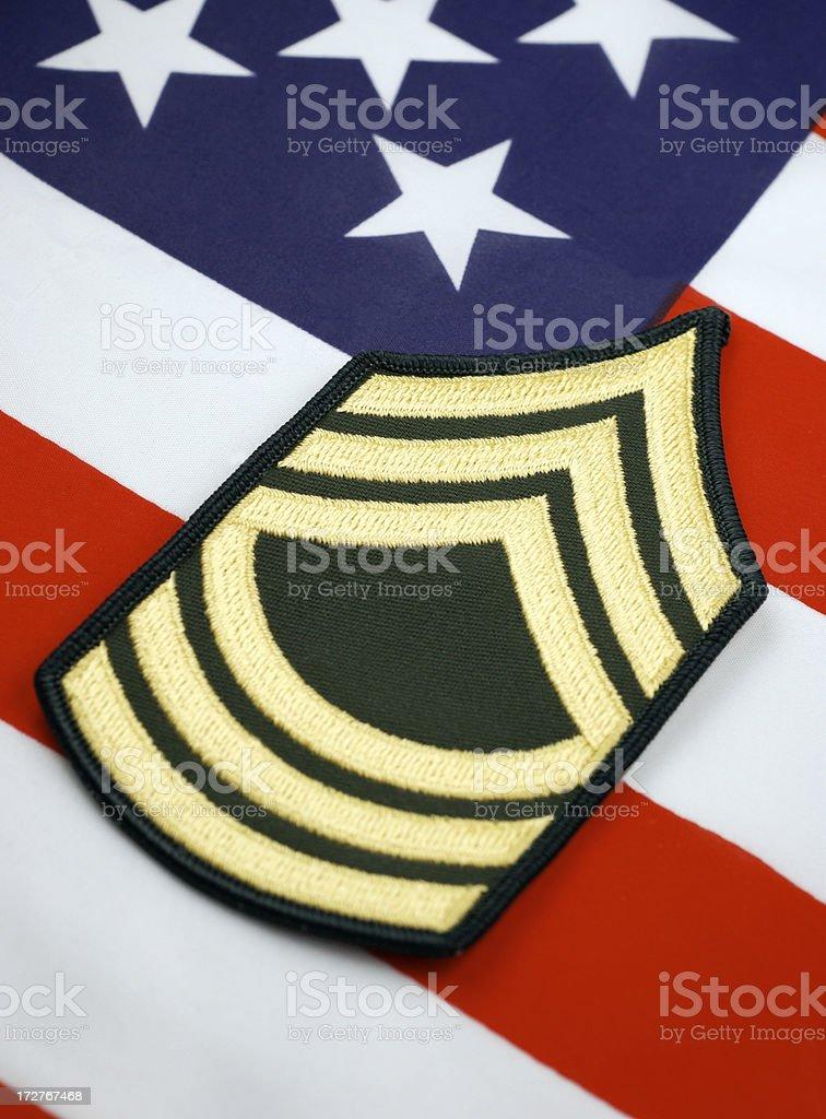 Army Master Sergeant Rank Insignia 2 royalty-free stock photo