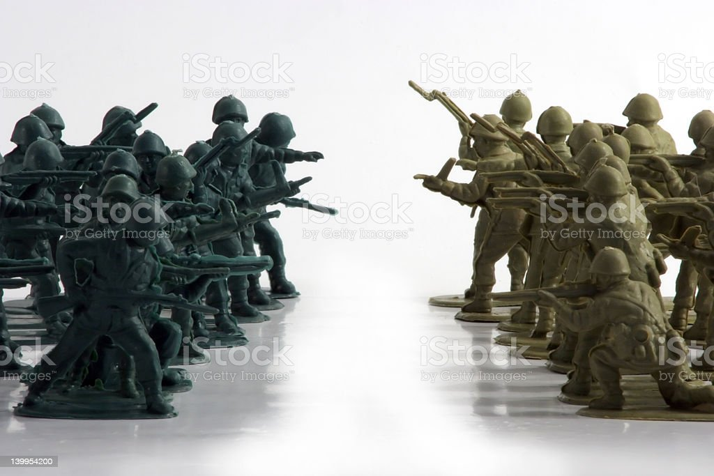 Army Men Stand Off royalty-free stock photo