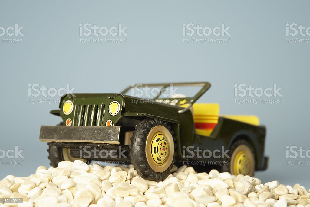 Army metal toycar royaltyfri bildbanksbilder