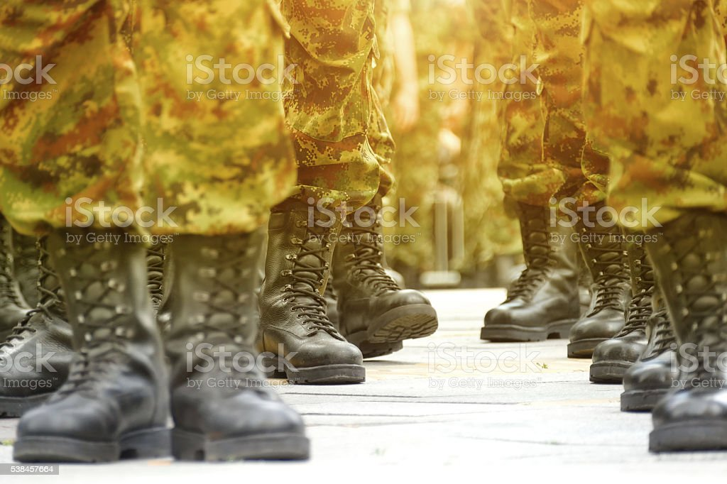 Army Military Boots stock photo
