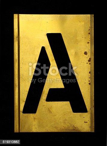 istock Army Military Stencil A 519310882