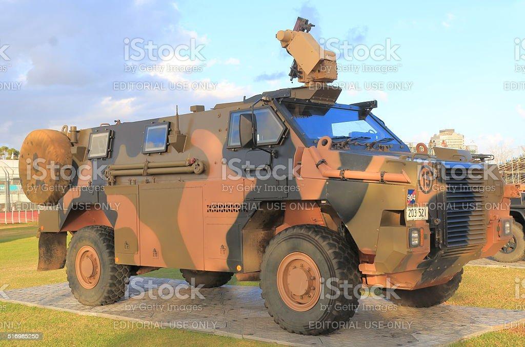 Army military vehicle Australia stock photo