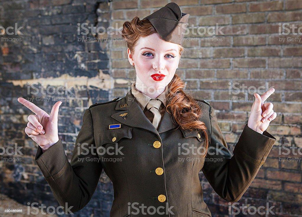 Army Nurse WWII - Dress Uniform stock photo