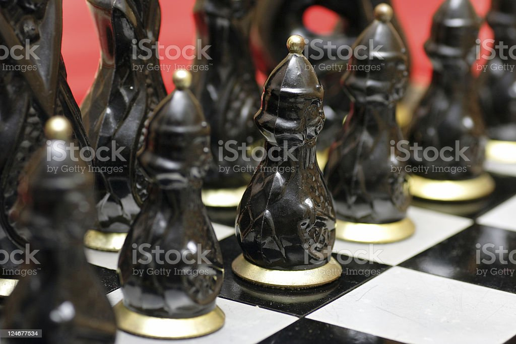 Army of Old Chess royalty-free stock photo