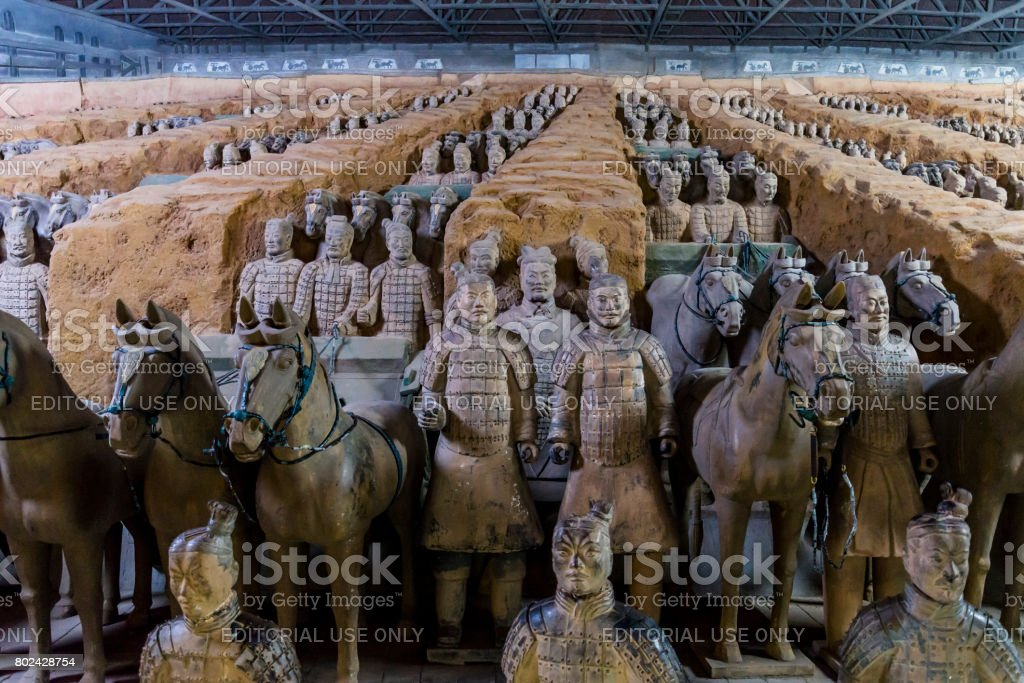 Army of Terracotta Warriors, Xian, Shaanxi province, China stock photo