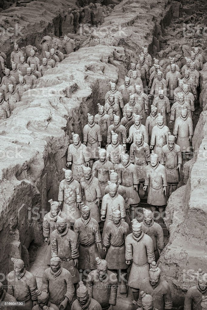Army of the Terracotta Warriors in Xian, China stock photo