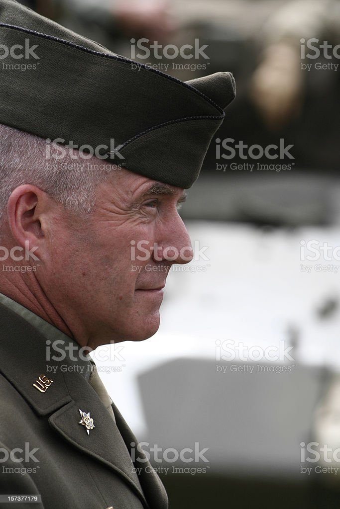 Army Officer stock photo