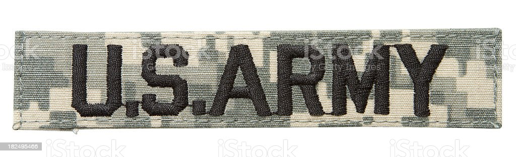 US Army Patch stock photo
